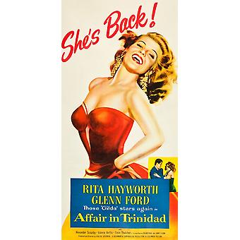 Affair In Trinidad Poster Art Rita Hayworth 1952 Movie Poster Masterprint