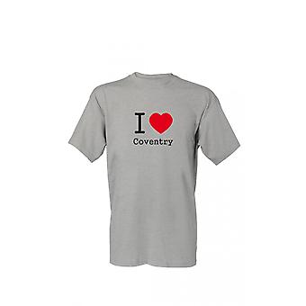 T-Shirt I love Coventry S-4XL