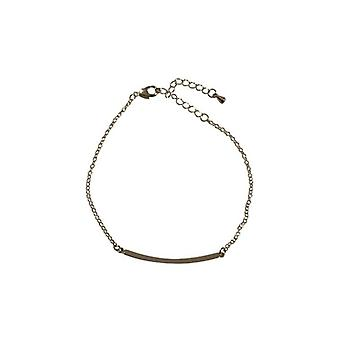 Silver-colored minimalist statement bracelet