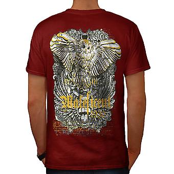 Maleficent Owl Bird Hawk Prey Men Red T-shirt Back | Wellcoda