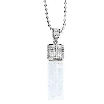 Iced Out Bling Micro Pave Kette - BOTTLE OF CZs silber