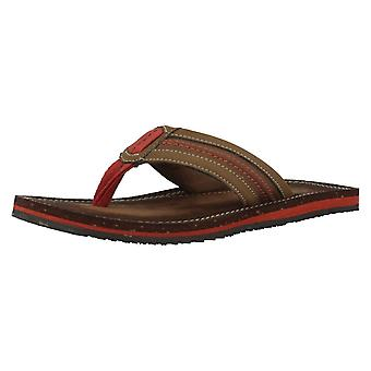 Mens Clarks Toe Post Sandals Riverway Sun