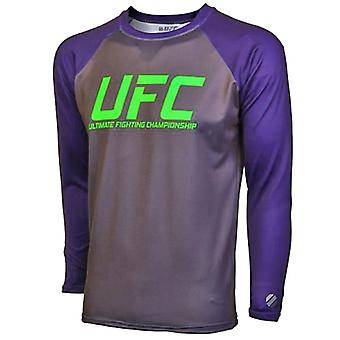 UFC TUF Team Melendez Rashguard - grå/mørk blomme