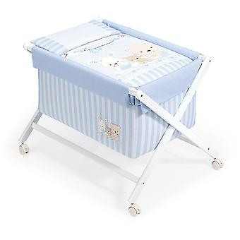 Interbaby Textile White Model minicuna With Love