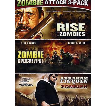 Abraham Lincoln V zombier/Zombie Apocalypse/Rise O [DVD] USA importerer