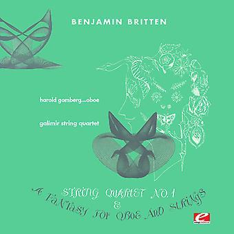 Britten / Galimir String Quartet / Gomberg, Harold - Fantasie für Oboe & String Trio F Min [CD] USA import