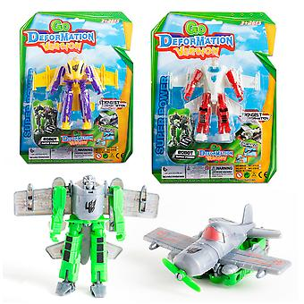 Import Transformer Robot Avión 21X29 3 Colores (Toys , Action Figures , Dolls)