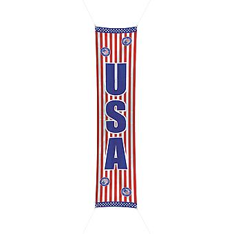 USA party banner 60x300cm American stars and stripes flag