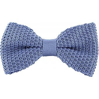 Michelsons of London Silk Knitted Bow Tie - Light Blue