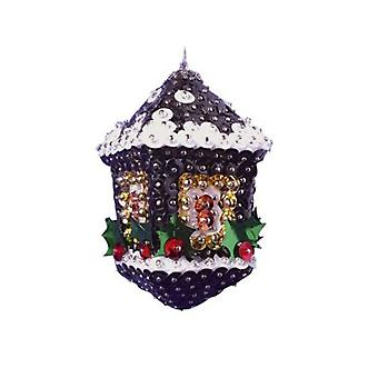 Pinflair Sequin & Pin Christmas Craft Kit - 2 Lantern Bauble Ornaments