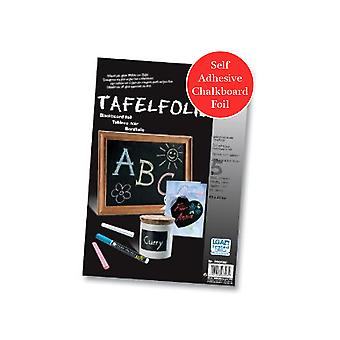 SALE - 5 Sheets of Blackboard Foil for Crafts - Peel & Stick Papers