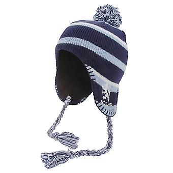 Scotland Childrens/Kids Boys Peruvian Hat With Tassles And Lion Motif