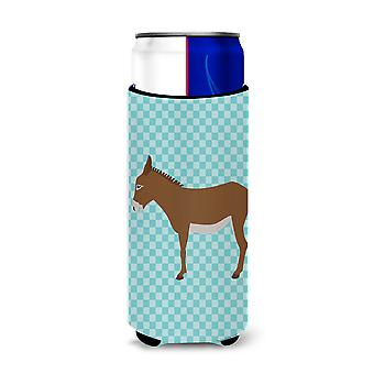 Cotentin Donkey Blue Check Michelob Ultra Hugger for slim cans
