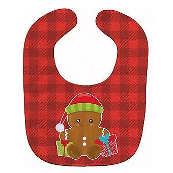 Carolines Schätze BB8778BIB Weihnachten Lebkuchen präsentiert Baby Lätzchen