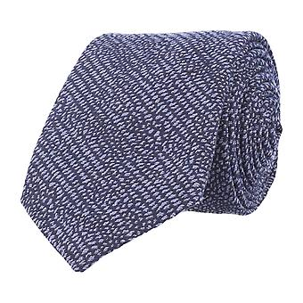 Baldessarini classic tie blue wool silk grained