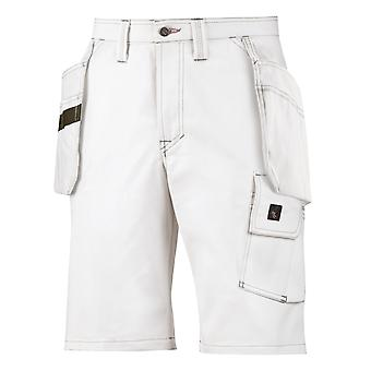 Snickers Workwear White Painters Holster Pockets Work Shorts - 3075