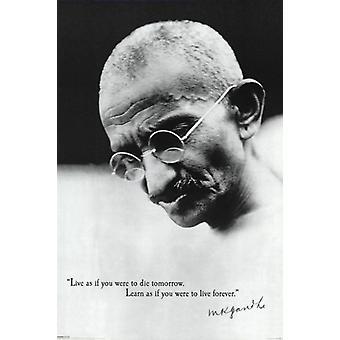 Gandhi - Live citat affisch affisch Skriv