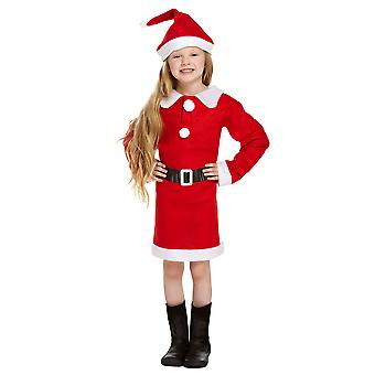 Children's Christmas Santa mevrouw Claus Nativity Fancy Dress kostuum - 4/6 jaar
