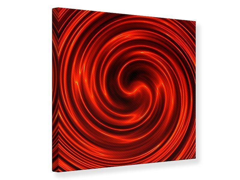 Toile impression abstraite rouge tourbillon