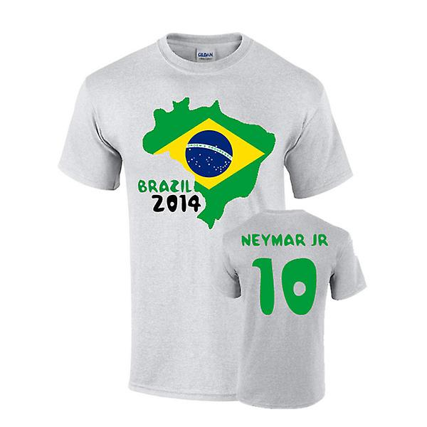 Brazil 2014 Country Flag T-shirt (neymar 10)