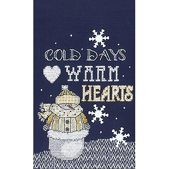 Warm Hearts Counted Cross Stitch Kit-5