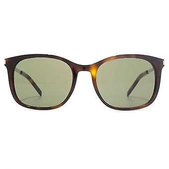 Saint Laurent SL 111 Sunglasses In Havana Green