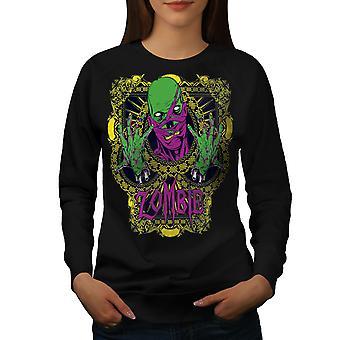 Green Chains Dead Zombie Women BlackSweatshirt | Wellcoda