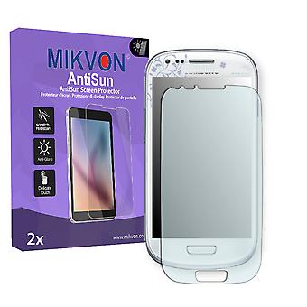 Samsung I8190 Galaxy S3 mini La Fleur Edition Screen Protector - Mikvon AntiSun (Retail Package with accessories) (intentionally smaller than the display due to its curved surface)