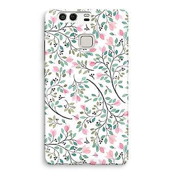 Huawei P9 Full Print Case - Dainty flowers