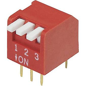 DIP switch Number of pins 3 Piano-type TRU COMPONENTS DP-03