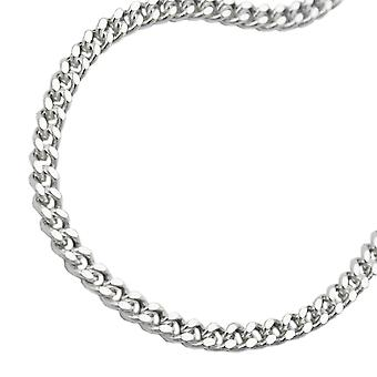 Flat curb chain silver 925 necklace 55cm