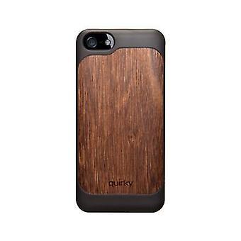 Finurlige Pli-iPhone 5/5s/SE case sort/træ