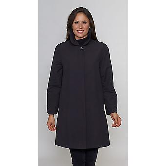 Ladies Black microfibre coat David Barry DB696