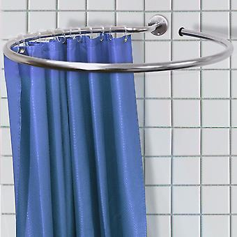 Loop - Stainless Steel Circular Round Shower Rail And Curtain Rings