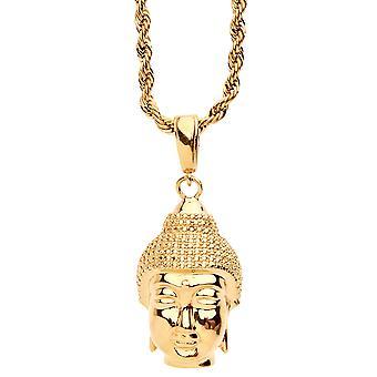 ORO LAMINADO fashion necklace - gold BUDDHA head
