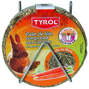 Tyrol Compacted Hay Wheel Carrot (Small pets , Treats)
