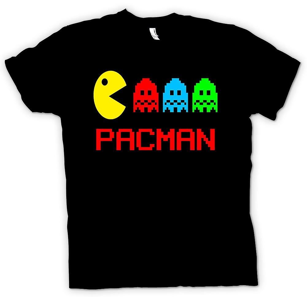 Womens T-shirt-Pacman - Retro - Old-School-Gamer