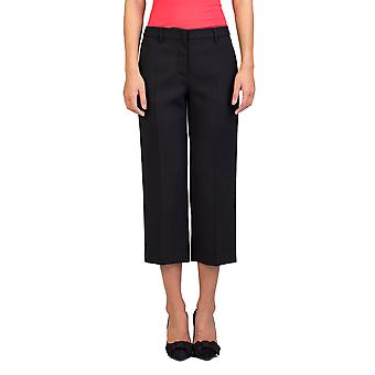 Miu Miu Women's Virgin Wool Slim Fit Stretch Pants Black