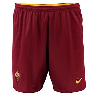 2018-2019 AS Roma Nike Home Shorts (Red)