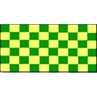 Verifique verde e amarelo da bandeira 5 pés x 3 pés com ilhós para pendurar