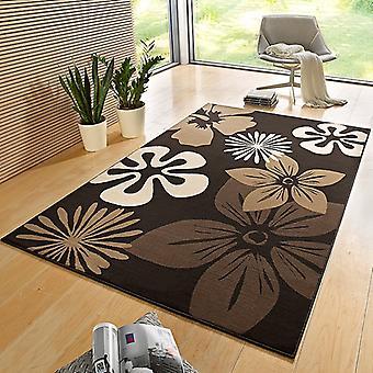 Flore de tapis de velours concepteur Brown | 102402