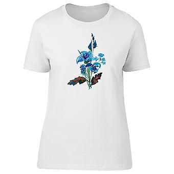 Elegant Blue Flowers Tee Women's -Image by Shutterstock