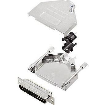 encitech DTZK25-DBP-K D-SUB pin stripen sett 180 ° antall pinner: 25 loddetinn bøtte 1 sett