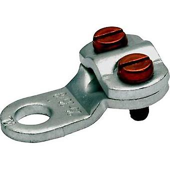 Klauke 572R6 Ring terminal 2x screw Cross section (max.)=10 mm² Hole Ø=6.5 mm Not insulated Metal 1 pc(s)