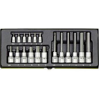 PROXXON Industrial 23 100 Allen Bit set 18 piezas 1/4 (6.3 mm), 1/2 (12.5 mm)