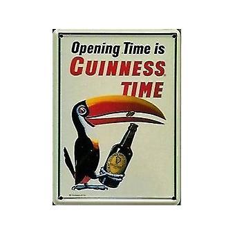 Guinness Tukan Eröffnung Flasche Metall Postkarte / Mini-Zeichen