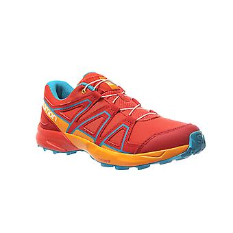 Scarpe da trekking Salomon Speedcross junior scarpe da tennis rosse
