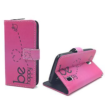 Handyhülle Tasche für Handy Huawei Y625 Be Happy Pink