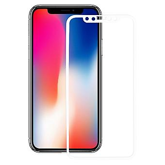 Apple iPhone X 3D armoured glass foil display 9 H protective film covers case white