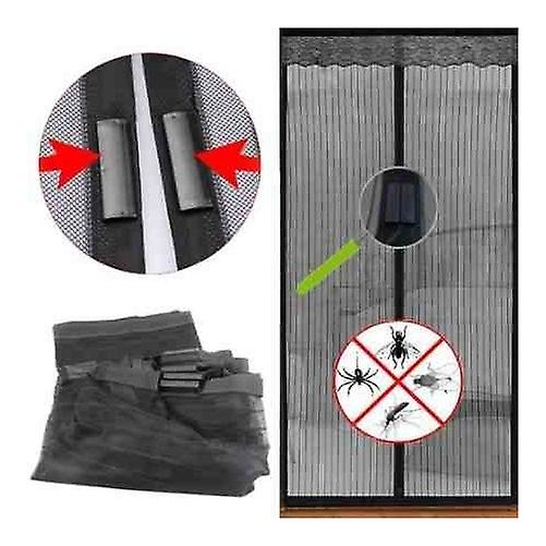 Magic Magnetic Door Curtain Mesh Bug Insect Mosquito Hands